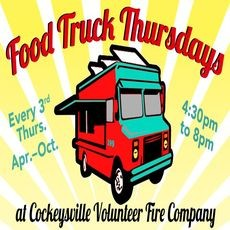 Things to do in Towson, MD for Kids: 3rd Thursday Food Truck Nights, Cockeysville Volunteer Fire Company
