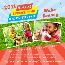 Things to do in Wake County South, NC for Kids: Wake County Virtual Camp Fair, Touch of Magic Events