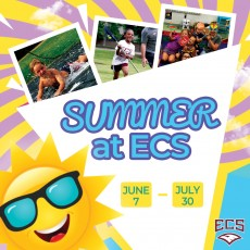ECS is proud to offer a wide variety of summer camps. From theater to sports and science. There is something for everyone at ECS! Open to rising 1st through 6th graders