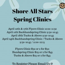 Things to do in Southern Monmouth, NJ: Backhandspring Clinic/Tucks & Above