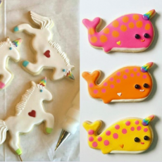 Unicorn Sister Narwhal Brother Virtual Cookie Cookie Decorating Class