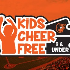 Towson, MD Events for Kids: Orioles vs. Red Sox-Mother's Day - Orioles Infinity Scarf