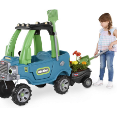 Little Tikes Go Green! Cozy Truck w/ Trailer & Garden Tools