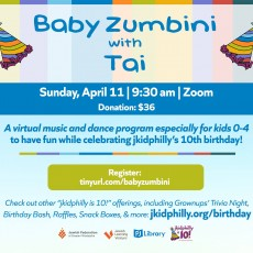 Things to do in Main Line, Pa for Kids: Baby Zumbini with Tai, jkid philly in Lower Merion