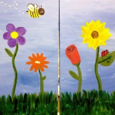 Things to do in Myrtle Beach, SC for Kids: PARENT & ME - SPRING FLOWERS, Wine & Design - North Myrtle Beach