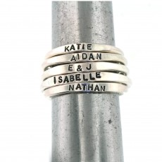 Hannah Design Personalized Stack Rings