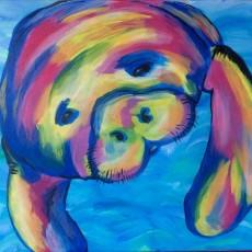 Wesley Chapel-Lutz, FL Events: In-Studio Paint Class - Manatee Selfie