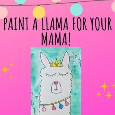 Paint a Llama For Your Mama