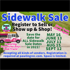 Things to do in Dutchess County, NY for Kids: Sidewalk Sale, Town of Pawling Recreation Department