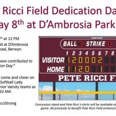 Pete Ricci Field Dedication Day