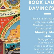 Things to do in Main Line, Pa for Kids: Catherine Murdock Book Launch DaVinci's Cat, Main Point Books