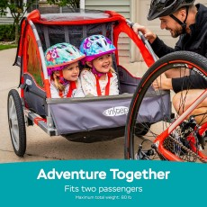 Instep 2-In-1 Canopy Carrier Bike Trailer