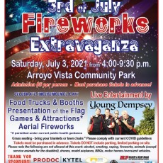 Things to do in Thousand Oaks, CA for Kids: 3rd of July Fireworks Extravaganza, Moorpark Recreation