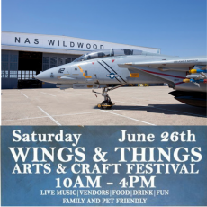 Things to do in Cape May County, NJ for Kids: Wings & Things Arts and Craft Festival, Naval Air Station Wildwood Aviation Museum