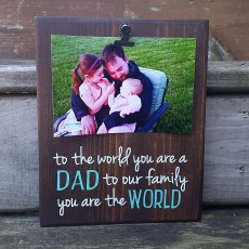 Handmade Father's Day Picture Frame