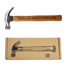 Engraved Wood Handle Steel Hammer