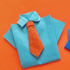 Make an Origami Shirt & Tie Card