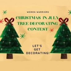 Christmas in July Tree Decorating Contest