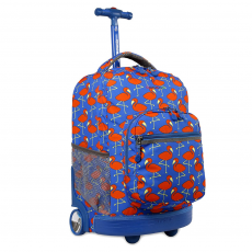 J World NY Sunrise Rolling Backpack