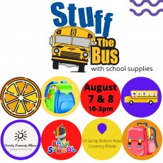 Things to do in Warwick, RI for Kids: Stuff The Buss - School Supply Collection, Coventry Community Alliance