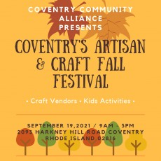 Things to do in Warwick, RI for Kids: Coventry's Artisan & Craft Fall Festival, Coventry Community Alliance