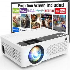 6500 Lumen HD Video Projector + Screen
