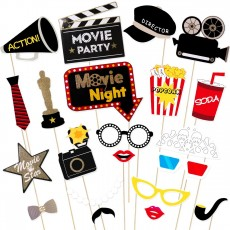 Movie Night Photo-Booth Props