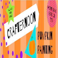 Things to do in Birmingham, AL for Kids: Crafternoons - Pumpkin Painting for rising K-2nd Grade, The O'Neal Library