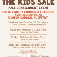 Things to do in Winter Garden-Windermere, FL for Kids: The Kids Sale Fall Event, The Kids Sale of Windermere