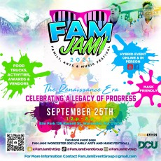 FAM JAM! Family Arts and Music Festival (Worcester 2021)