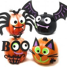 Funiverse 126 Piece Foam Sticker Halloween Pumpkin Decorating Craft Kit