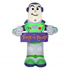 Airblown Buzz Lightyear with Halloween Banner