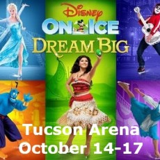 Things to do in Tucson North, AZ for Kids: Disney On Ice: Dream Big, Tucson Convention Center