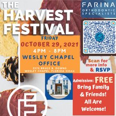 Things to do in Wesley Chapel-Lutz, FL for Kids: The Harvest Festival, Farina Orthodontic Specialists