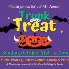 Things to do in Myrtle Beach, SC for Kids: Trunk or Treat - 4th Annual!, The Cooper House