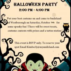 Things to do in Shrewsbury-Marlborough, MA for Kids: Halloween Party @ Smileland, Smileland Westborough