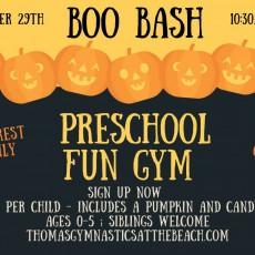 Things to do in Myrtle Beach, SC for Kids: Preschool Fun Gym - Boo Bash, Thomas Gymnastics at the Beach