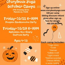 Things to do in Cleveland Southeast, OH for Kids: Pumpkin Pandemonium Party, Storybook Yoga - Balanced Minds