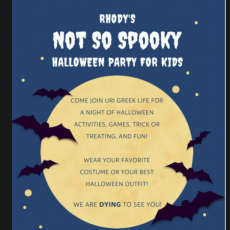 Things to do in Warwick, RI for Kids: Rhody's Not So Spooky Halloween Party For Kids, University of Rhode Island (URI)
