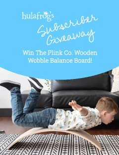 Plink Co Wooden Wobble Balance Board - March 2021 Giveaway
