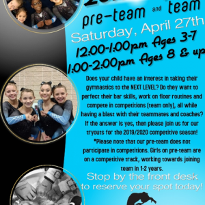 Things to do in Rock Hill, SC: Pre-Team & Team Tryouts!
