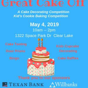 League City, TX Hulafrog | TBJP's Great Cake Off