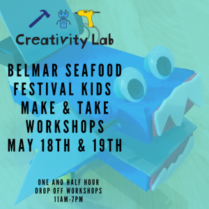Things to do in Southern Monmouth, NJ for Kids: Seafood Festival Make & Take Workshops, Creativity Lab NJ