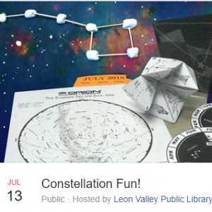 San Antonio Northwest, TX Events: Constellation Fun