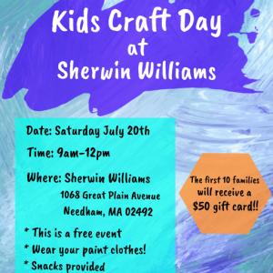 Brookline-Norwood, MA Events for Kids: Kids Craft Day at Sherwin Williams!