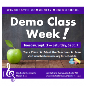 Burlington-Winchester, MA Events: Demo Class Week - Try a Music Class!