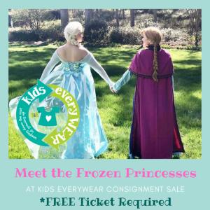Things to do in Apex-Cary, NC for Kids: Meet Frozen's Anna at Kids EveryWEAR, Kids EveryWEAR Consignment Sale - Voted BEST