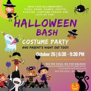 Things to do in Myrtle Beach, SC for Kids: Halloween Bash/Parents Night Out, Coastal Dance Centre at The Market Common