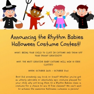 Things to do in Eastern Main Line, PA for Kids: Rhythm Babies Halloween Contest, Rhythm Babies LLC