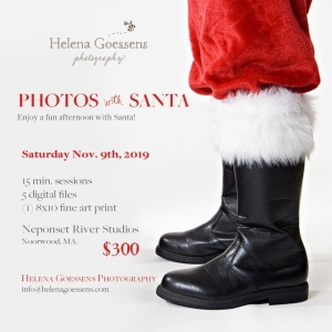 Brookline-Norwood, MA Events for Kids: Photos with Santa at Helena Goessens Photography